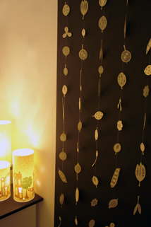 a display of Hannah Nunn's Radiance newly designed seedpod window/wall hanging