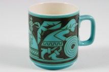 vintage Hornsea Pottery mug of knight with shield