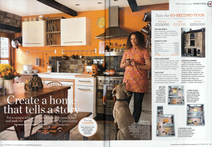cutting from the October 2012 Ideal Home magazine showing our home