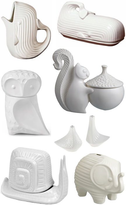 Pottery items from Jonathan Adler's 'Menagerie' range