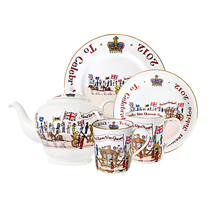 Alison Gardiner Golden Jubilee commemorative china tableware available at John Lewis