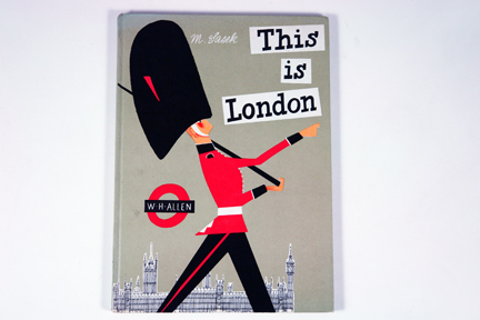 "cover of vintage ""This is London"" boook by Miroslav Sasek"