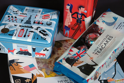 selection of Marks and Spencer food items with special Diamond Jubilee and London Olympic 2012 packaging