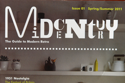 image of close up of the front cover of the 1st edition of Midcentury Magazine