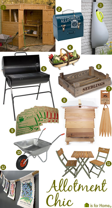 'Allotment Chic' mood board | H is for Home