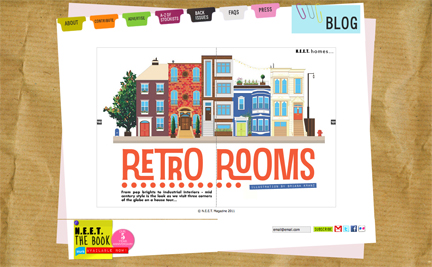 Retro Rooms title page from N.E.E.T e-magazine, #22