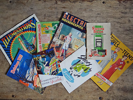 vintage paper ephemera shortly to be listed in the H is for Home webshop