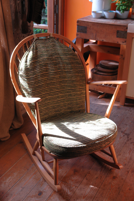 vintage Ercol beechwood rocking chair