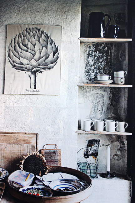 "page from the ""Artistic Idyll"" feature from the launch issue of Elle Decoration Country"
