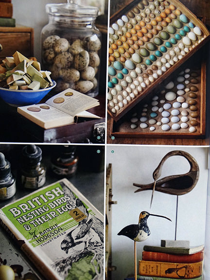 four details from Tony Ladd's studio workspace featured in the April 2014 Homes & Antiques magazine