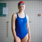 Portrait of swimmer Rosie Bancroft from the book, &quot;Personal Best&quot; by Paul Floyd Blake