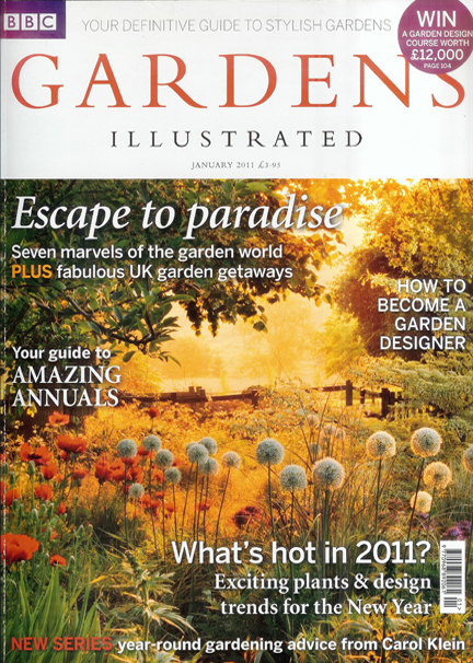 January 2011 BBC Gardens Illustrated magazine cover
