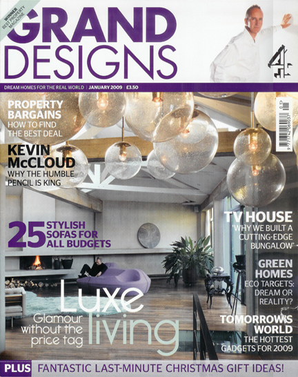 January 2009 Grand Designs Magazine cover