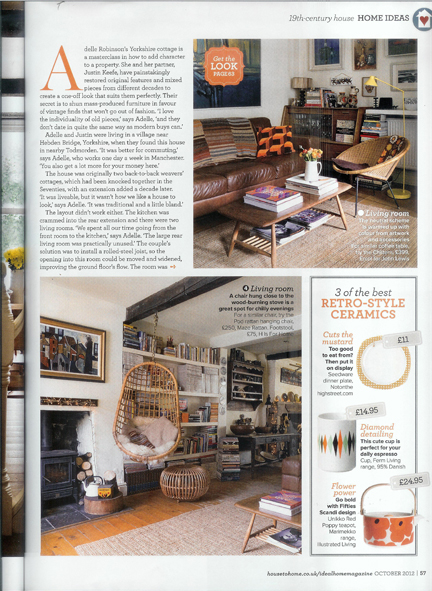 October 2012 Ideal Home magazine cutting