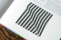 page from the Bridget Riley catalogue showing &quot;Shift&quot;