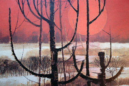 "detail of ""Winter Morning"" print by Edward Ripley"
