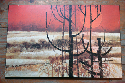 "vintage print on board entitled ""Winter Morning"" by Edward Ripley"