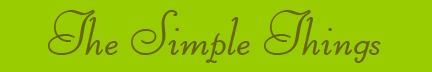 &quot;The Simple Things&quot; blog post banner