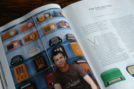 magazine article about a vintage radio collector