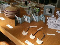 tabletop of various art &amp; craft works available at Snug Gallery in Hebden Bridge