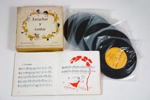 contents of vintage 1950s Spanish song book & record box set