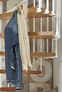 under stair coat hooks