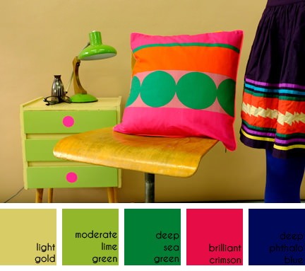 colourful cushion by Bonnie & Buttermilk