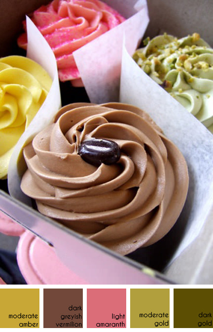 selection of colourful cupcakes