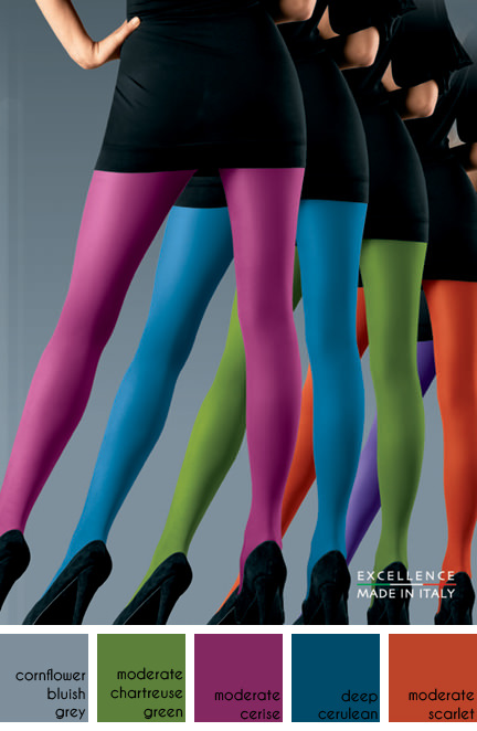 collection of coloured tights available at UK Tights