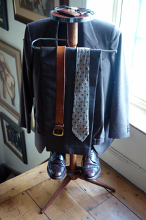 full length view of the vintage gentleman's valet
