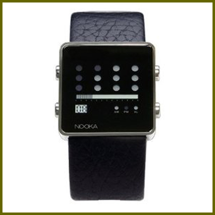 Nooka watch - Unisex Zot V Series, Black Leather ZOTBK