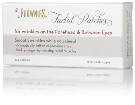 Frownies, anti-aging facial patches for wrinkles on the forehead & between the eyes