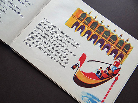 Gondola in Venice in 'Italy' the vintage World Dolls series of books