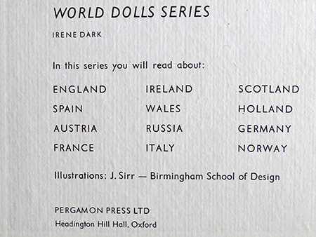 World Dolls Series: inside Spain book cover