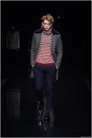ermanno scervino model with striped top and socks