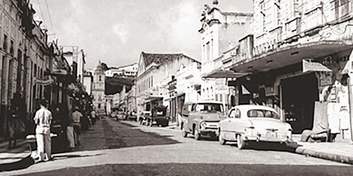 Av. Moreira Lima no início dos anos 60, palco de muitas figuras populares de Maceió