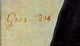Gros 1804 signature on Jacques Amalric portrait