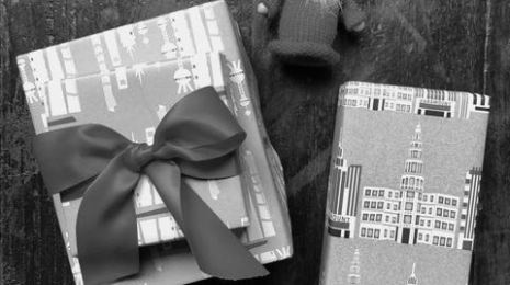 Building Wrapping Paper b-w