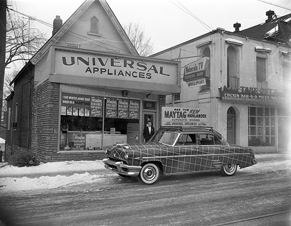 Universal Appliances, 409 Rideau Street. January 24, 1954. Image: City of Ottawa Archives CA042915.