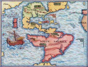 Map of the western hemisphere in 1546 The World of 1546