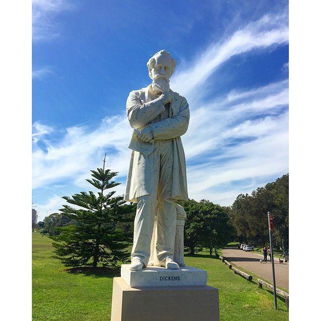 Charles Dickens Statue Centennial Park Sydney