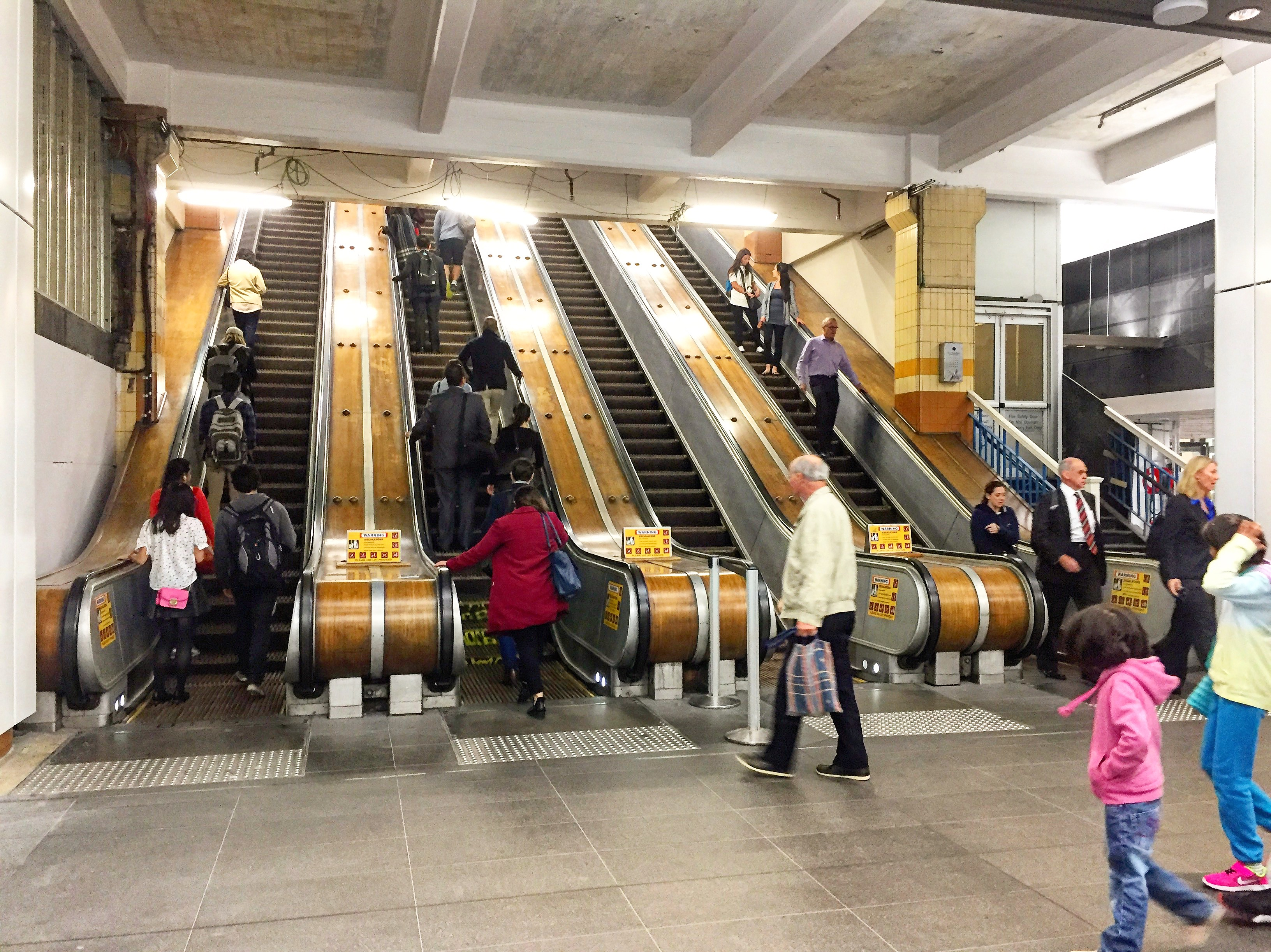 Wynyard's wooden escalators