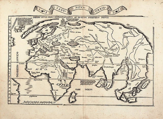 Laurent Fries world map, 1522