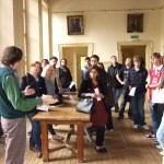 Student vist to the Royal Geographical Society archive