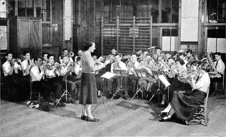 Brass Band in a Secondary Modern School. Crown copyright