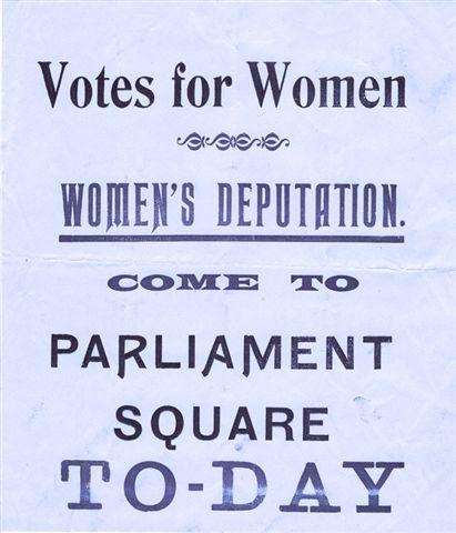 WSPU flyer, 18 November 1910