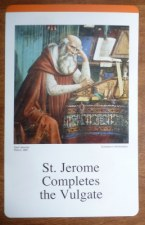 Veritas Press St. Jerome card