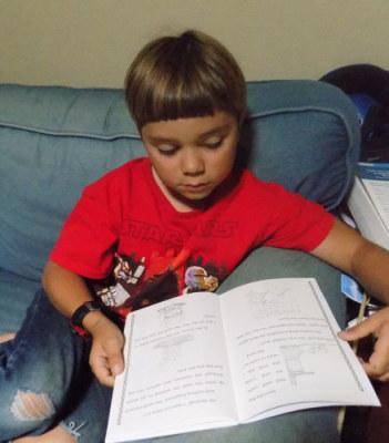 Ian reading