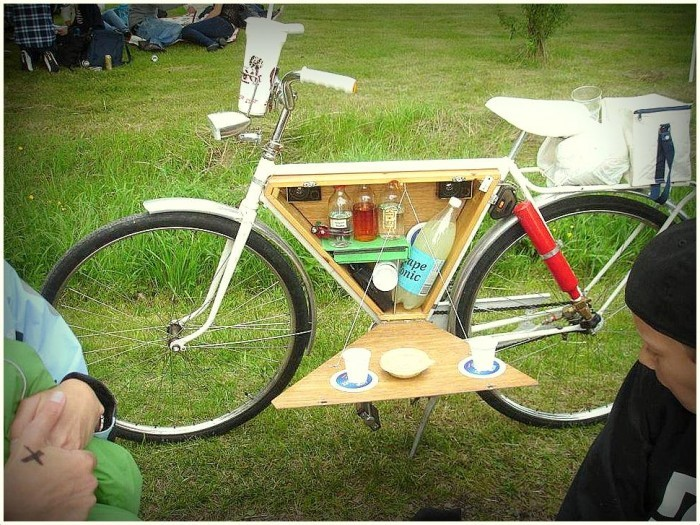 food drink design  Bicycle Bar Cart