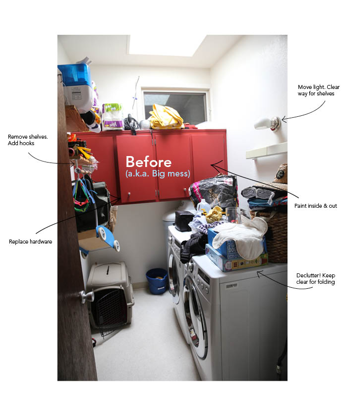 home  Living Clean: A Laundry Makeover (part 1)